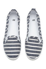 Slip-on trainers - Dark blue/Striped - Ladies | H&M 2